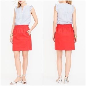 J. Crew Factory | Orange Linen Blend Mini Skirt